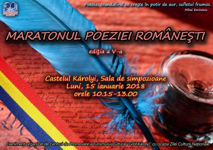 Maratonul poeziei românești, la Carei