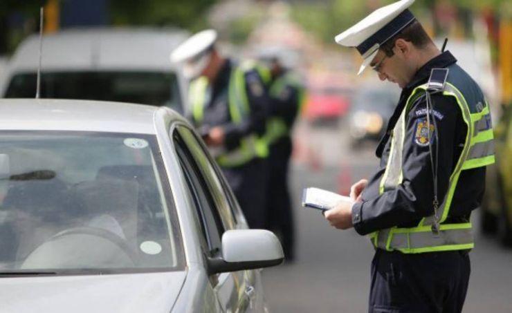Sătmărean la volanul unei mașini cu numere false, blocat de polițiști