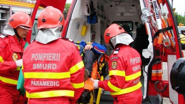 Accident la intrarea în Mădăras