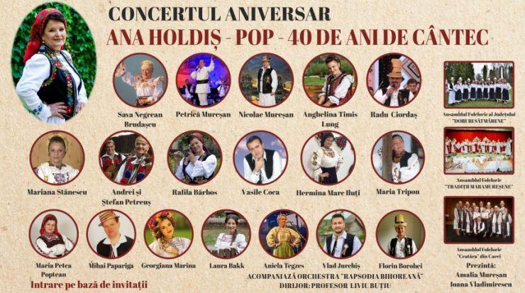 Concert aniversar Ana Holdiș Pop - 40 de ani de cântec