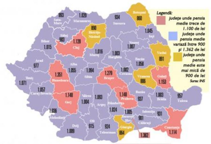 Harta foamei la vârsta a treia   Satu Mare, printre județele cu cele mai mici pensii