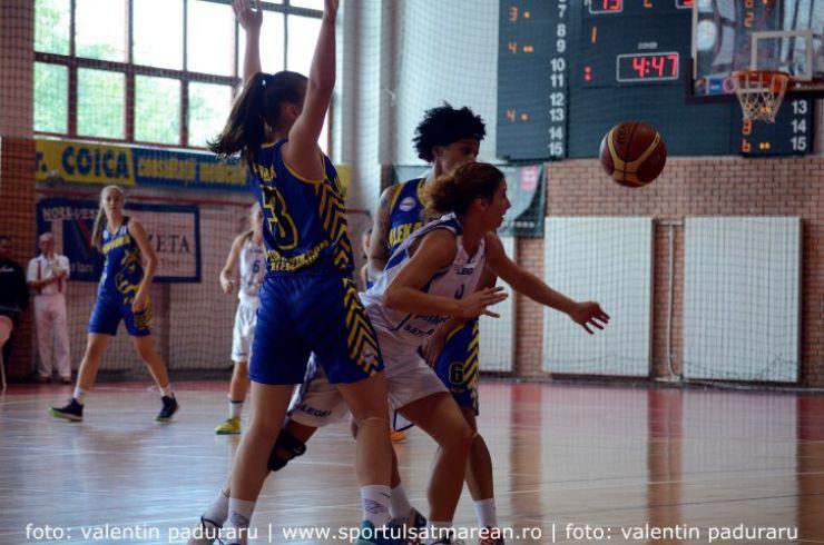 Baschet. Prima înfrângere pentru baschetbalistele de la CSM Satu Mare