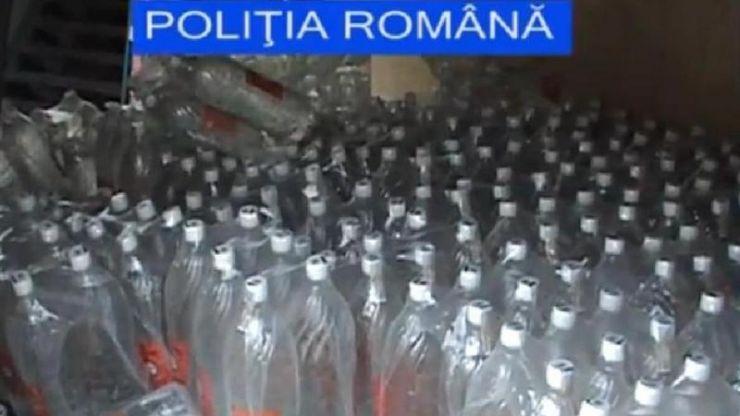 Doi bărbați din Stâna prinși cu mii de litri de alcool de contrabandă
