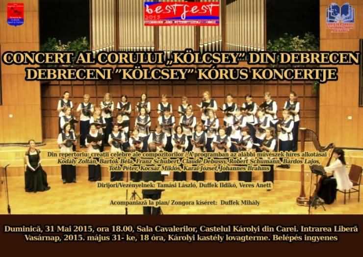 Concert al corului Kolcsey din Debrețin, la Carei