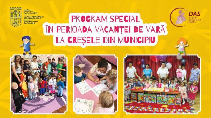 Program special la creșele din municipiu, în perioada vacanței de vară