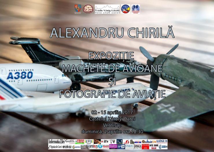 Expoziţie de machete de avioane şi fotografie de aviaţie la Castelul din Carei