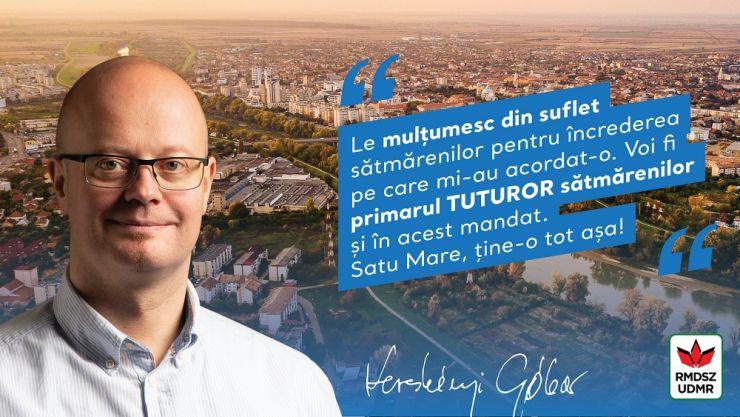 """Kereskenyi Gabor: """"Voi fi primarul tuturor"""""""