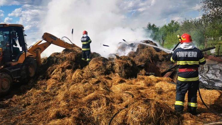 Incendiu la o anexă gospodărească din Gherța Mare