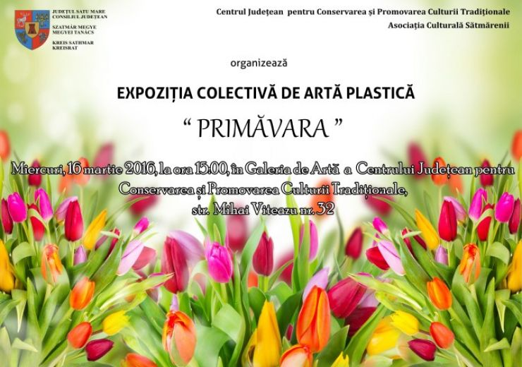 """Expoziţie colectivă de artă plastică """"Primăvara"""""""