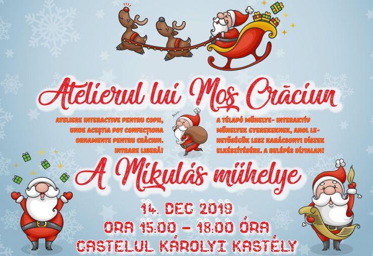 Atelierul lui Moș Crăciun ajunge sâmbătă la castelul din Carei