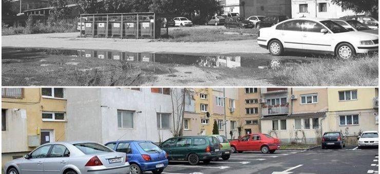Parcări modernizate în cartierul Micro 17 din municipiul Satu Mare