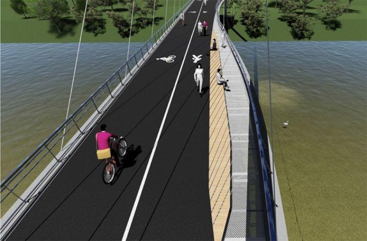 Pod pietonal peste Someș, în valoare de 3,6 milioane de euro