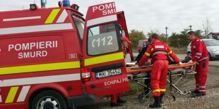 Accident grav între Odoreu și Băbășești. O mașină a ajuns pe calea ferată