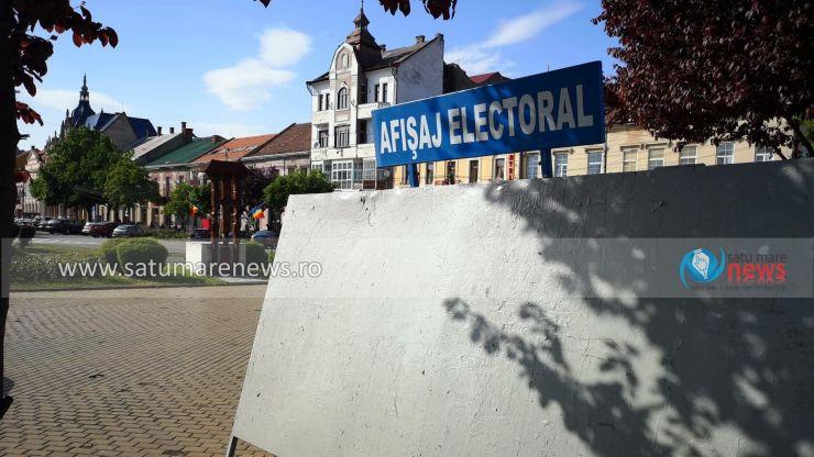 Au fost amplasate panourile de afişaj electoral în Satu Mare