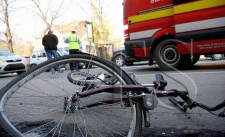 Biciclist accidentat grav