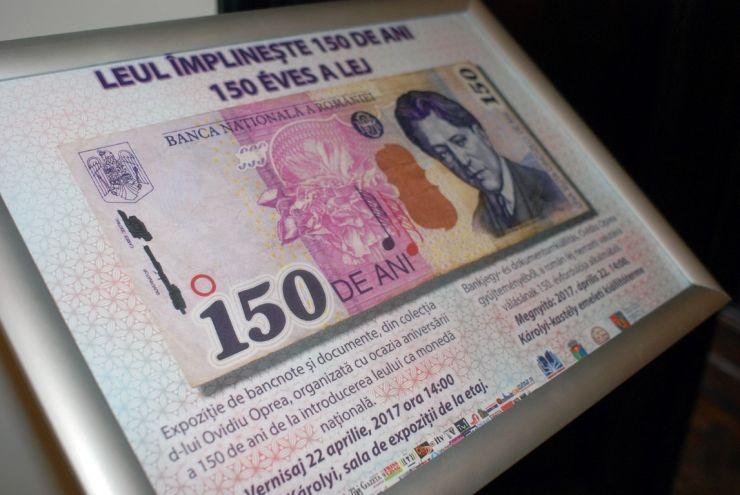 Expoziție de bancnote și documente: Leul împlinește 150 de ani, la Castelul din Carei