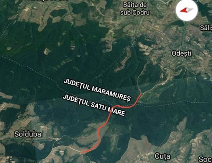 Drum de legătură între satele codrenești din Satu Mare și Maramureș