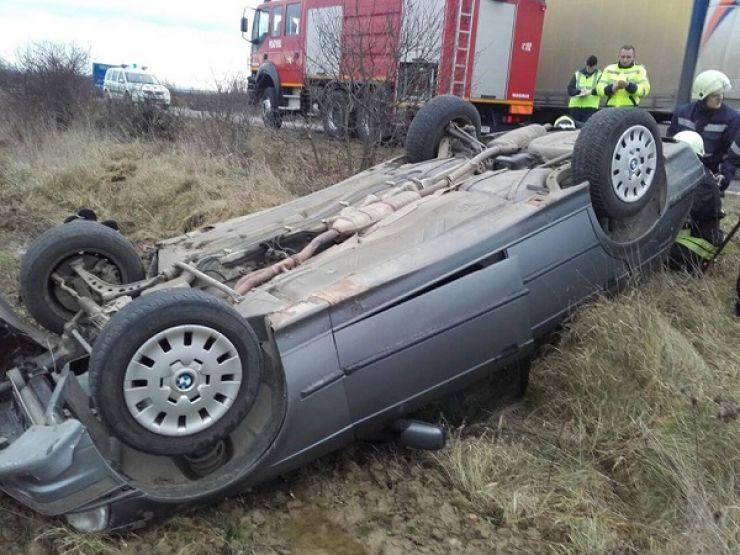 Accident la ieșire din Odoreu. Printre victime, doi copii