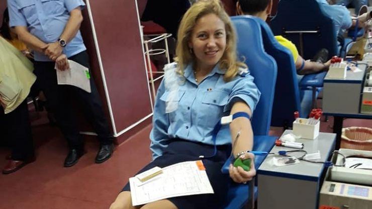 Peste 20 de jandarmi sătmăreni au donat sânge, în cadrul Zilei Cooperării Europene