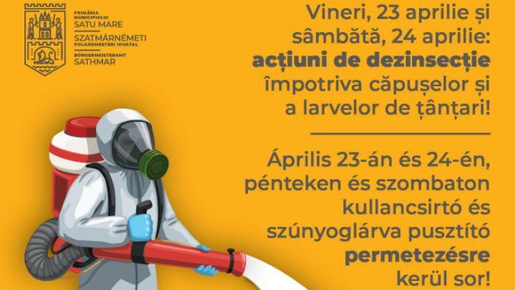 Începe campania de dezinsecție în municipiul Satu Mare