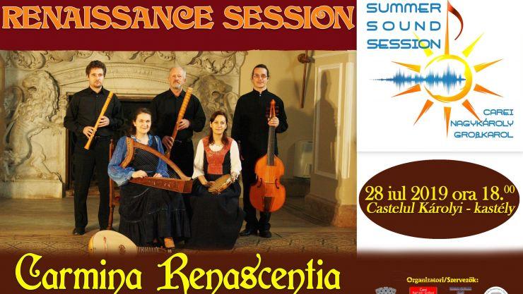 Summer Sound Sessions | Concert de muzică veche cu formația Carmina Renascentia, la Castelul din Carei