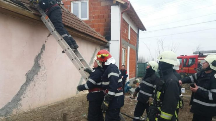 Incendiu la o casă din municipiul Satu Mare