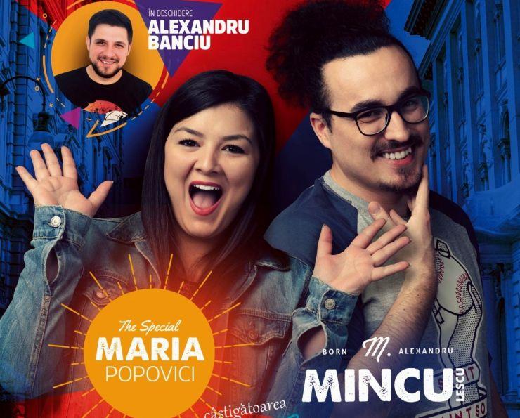 Stand-up comedy cu Maria Popovici, Mincu și Alexandru Banciu, la Carei