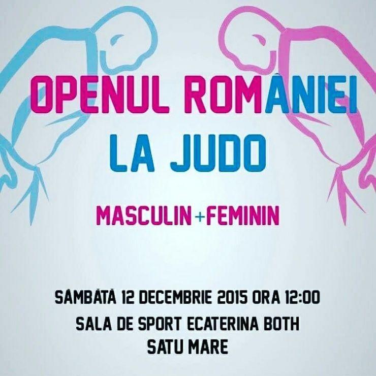 Judo. Openul României şi Gala Laureaţilor 2015 în acest weekend la Satu Mare