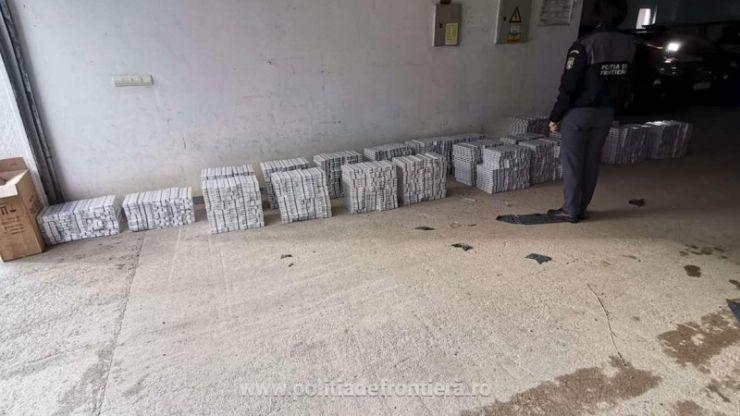Peste 6.000 de pachete țigări, de proveniență ucraineană, confiscate de polițiștii de frontieră