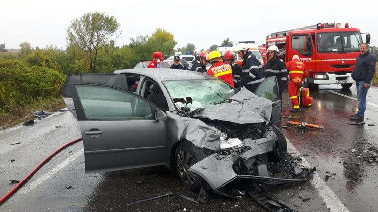Accident grav produs de un bărbat fără permis de conducere