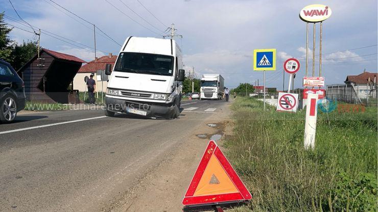 Accident rutier în Odoreu cu 7 persoane implicate. Un copil de zece ani a ajuns la spital