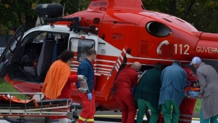 Prima intervenție a elicopterului SMURD de la Jibou. Sătmăreancă transportată de urgență la Institutul Inimii din Cluj