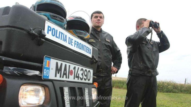 Infractori reținuți de polițiștii de frontieră, la Petea