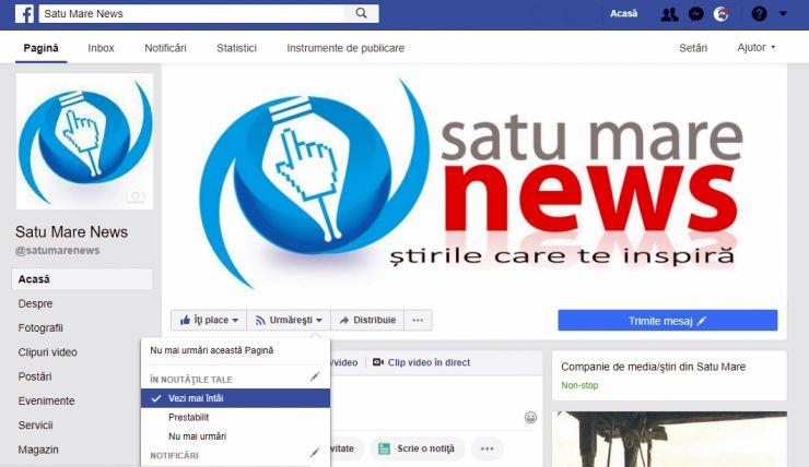 Cum poți să urmărești în continuare Satu Mare News pe Facebook