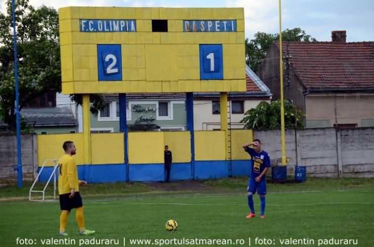 Fotbal. Baraj promovare Liga a III-a: FC Olimpia 1/2 Satu Mare câștigă primul meci cu Luceafărul Bălan (Foto&Video)
