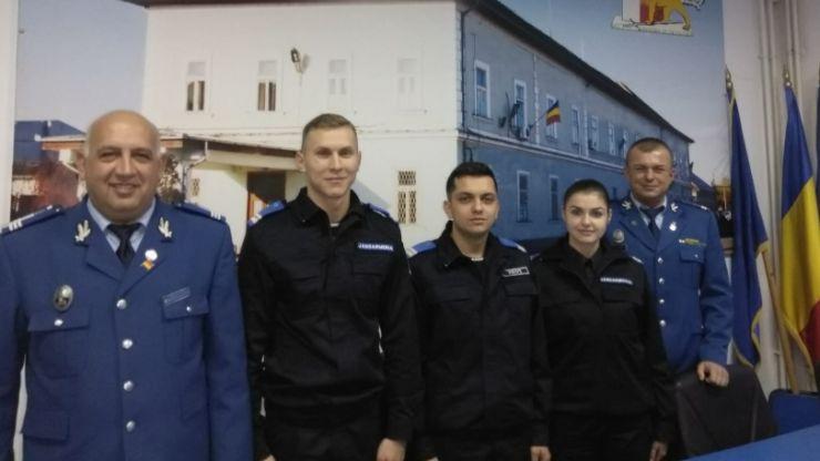Trei subofițeri, absolvenți ai școlilor militare de subofițeri jandarmi din Drăgășani și Fălticeni, numiți în funcție la Jandarmeria Satu Mare