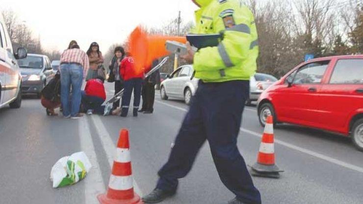 Un bărbat din Potău a lovit o femeie și a fugit de la locul accidentului