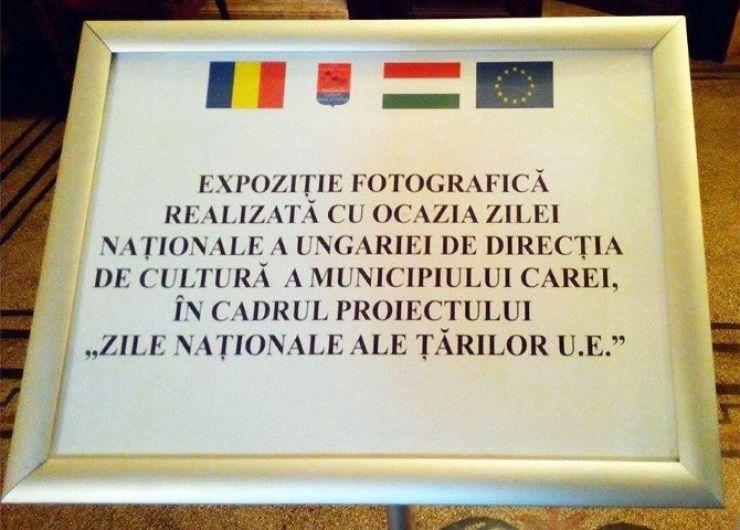 Ziua Națională a Ungariei, marcată la Carei printr-o expoziție foto