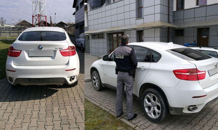 BMW X6 furat din Italia, descoperit la Negreşti