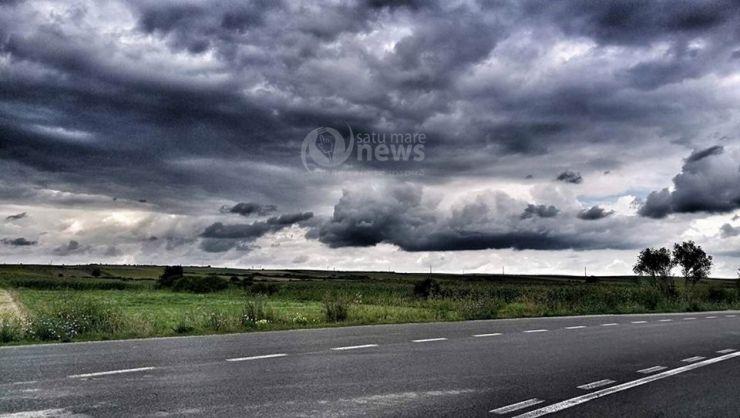 Cod galben de precipitaţii pentru județul Satu Mare