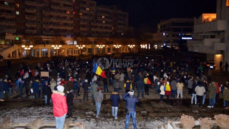 Mobilizare | Peste 1.000 de persoane au protestat în această seară la Satu Mare
