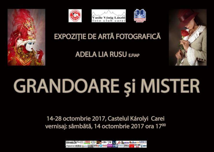 """Expoziție de artă fotografică """"Grandoare și mister"""" a artistei Adela Lia Rusu la castelul din Carei"""
