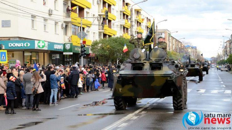 ZIUA NAȚIONALĂ A ROMÂNIEI, sărbătorită la Satu Mare cu o paradă spectaculoasă privită de sute de sătmăreni