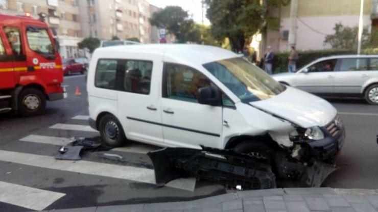 Accident în centrul Sătmarului