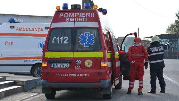 O ambulanță SMURD din Satu Mare, implicată într-un accident în județul Sălaj