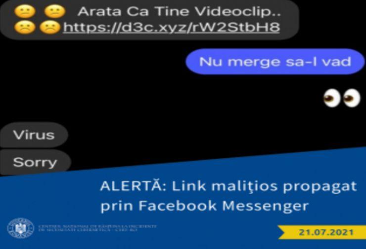 ALERTĂ | Link malițios distribuit prin Facebook Messenger